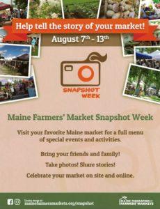 Snapshot Week is August 7-13