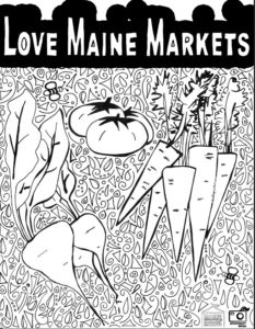 Rebel Elephant Coloring Page - #LoveMaineMarkets