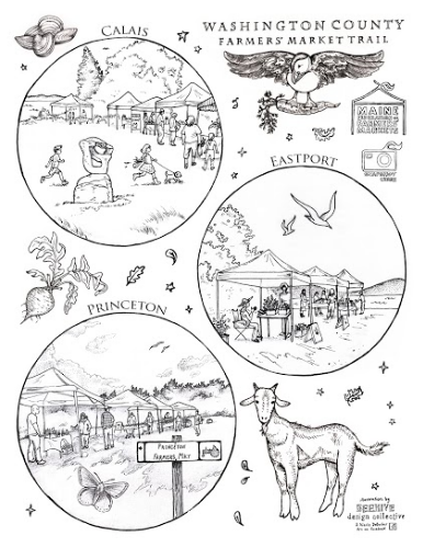 Maine Farmers Market Coloring Pages Maine Federation of Farmers